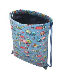 Construction Site Kids Drawstring Bag