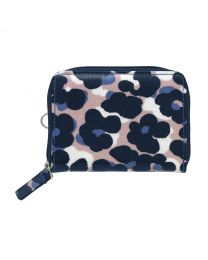 Leopard Flower Zipped Travel Purse