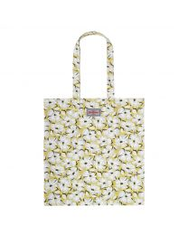Stamp Floral Cotton Bookbag