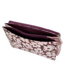 Stamp Floral Envelope Bag
