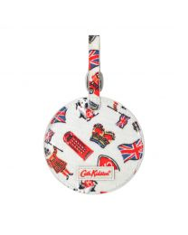 London Stamps Round Luggage Tag