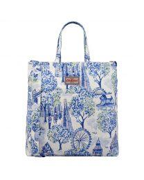 London Toile Double Handle Cotton Bag