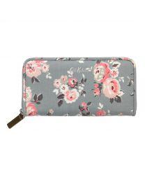 Wells Rose Continental Zip Wallet