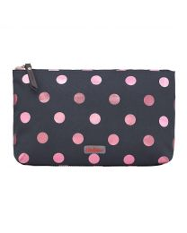 Button Spot Poly Zip Cosmetic Bag
