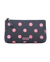 Button Spot Poly Zip Make Up Bag
