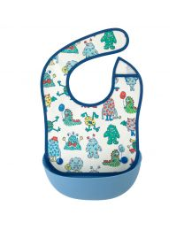 Monsters Kids Bib With Food Catcher