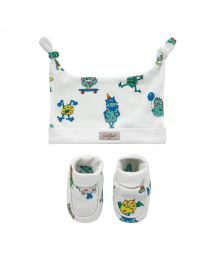 Mini Monsters Hat and Bootie Gift Set
