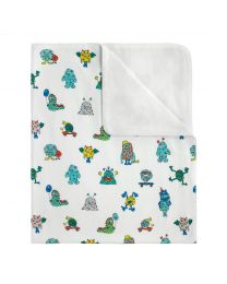 Mini Monsters Baby Pram Blanket