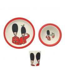 Guards Bamboo Plate, Bowl and Beaker Set