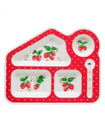 Wild Strawberry Melamine Food Tray