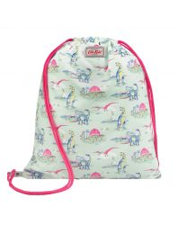 Kids Screen Print Dinosaur Reversible Drawstring Bag
