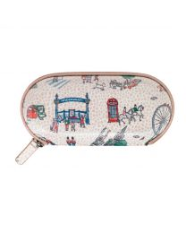 Small London Spots Zip Around Glasses Case