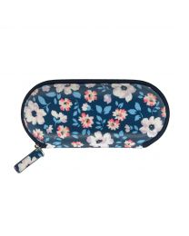 Island Flowers Zip Around Glasses Case