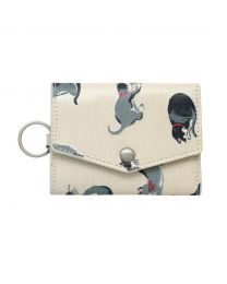 Small Painted Cats Folded Card Holder With Keyring