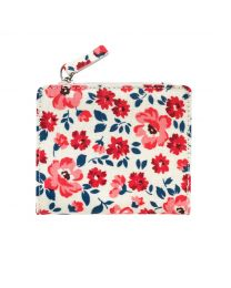 Island Flowers Small Folded Purse With Coin Slot