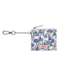 Bluebells Side Pleat Purse with Key Chain