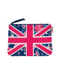 Birthday Flag 25th Anniversary Canvas Union Jack Pouch