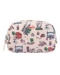 Small London Spots Classic Box Cosmetic Bag