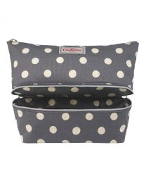 Button Spot Double Decker Cosmetic Bag