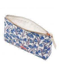 Bluebells Matt Zip Make Up Bag