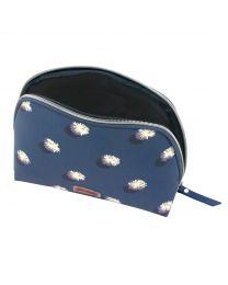 Pom Pom Spot Curved Top Cosmetic Bag