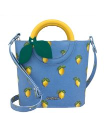 Little Lemons Lemon Handle Mini Bucket Bag