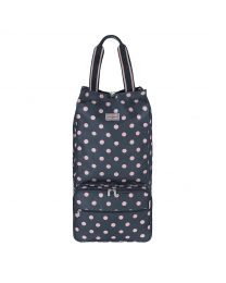 Button Spot Foldaway Shopping Trolley