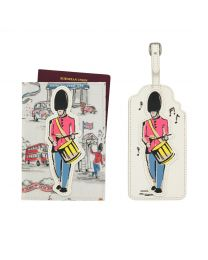 Birthday Party 25th Anniversary Guard Passport Holder and Luggage Tag