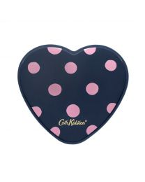 Button Spot Printed Resin Heart Mirror