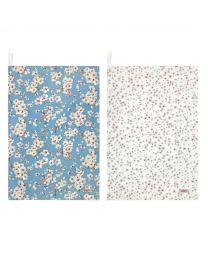 Wellesley Blossom Set of 2 Tea Towels
