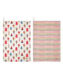 Ice Cream Set of 2 Tea Towels