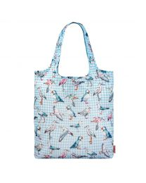 Sea Bird Check Foldaway Shopper