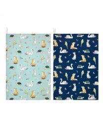 Park Wildlife Set of 2 Tea Towels