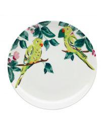 Parakeet Tea Plate