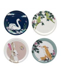 Park Wildlife Set of 4 Wooden Coasters
