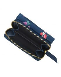 Busby Bunch Printed Small Leather Compact Wallet