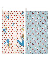 Falling Alice Disney Set of 2 Tea Towels