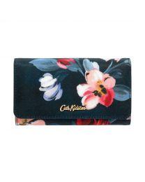 Paintbox Flowers Medium Foldover Wallet